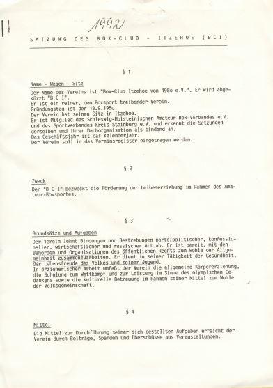 Satzung erste Seite